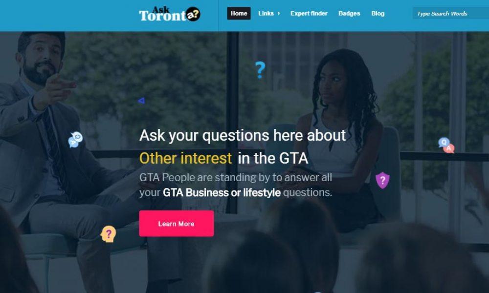 Ask Toronto questions screen